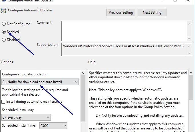 tắt tự động update windows